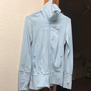 Lululemon baby blue scuba jacket